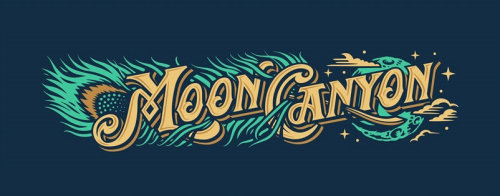Moon Canyon Lettering Design