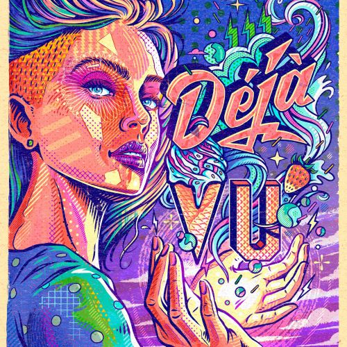 Deja Vu Ice Cream Poster Art
