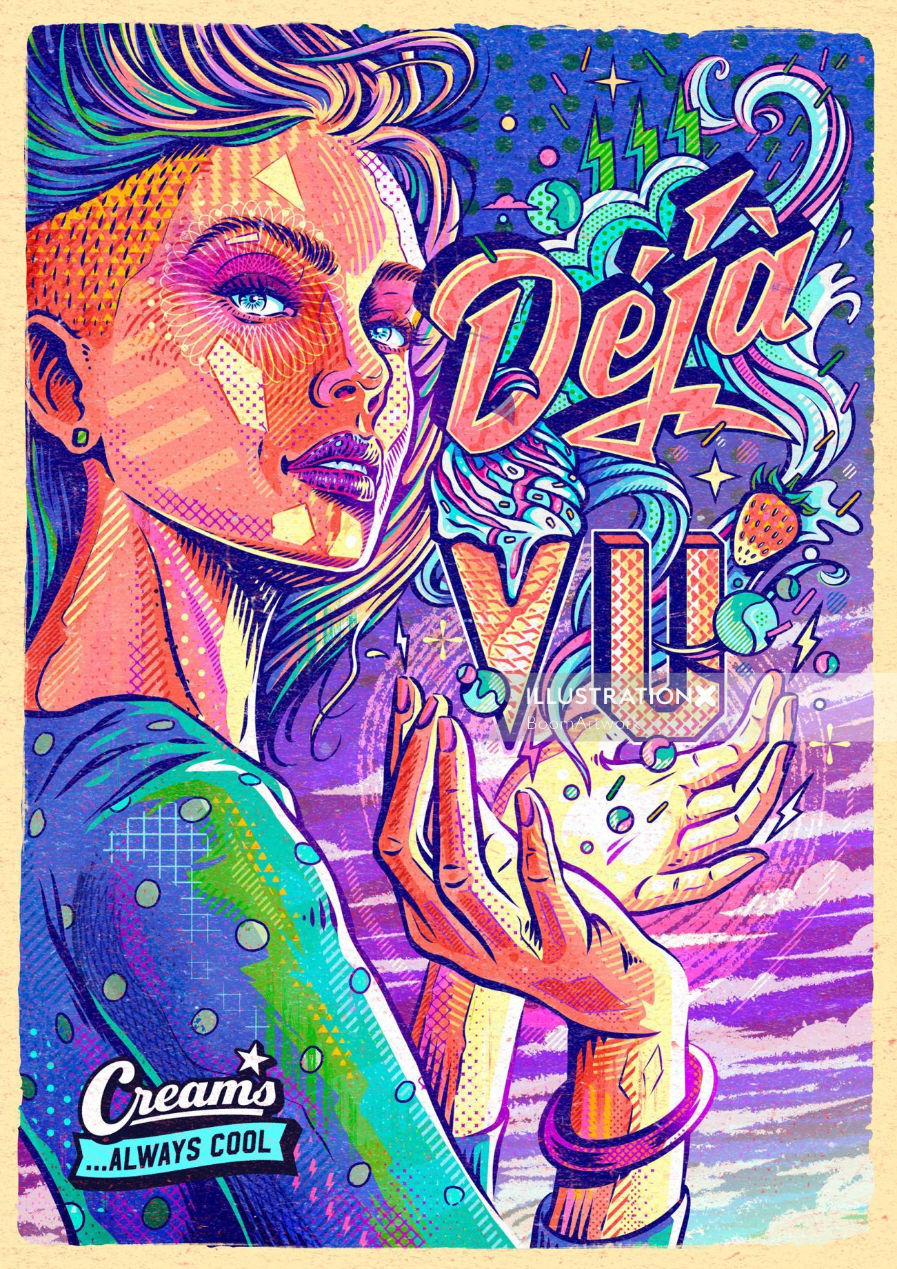 Deja Vu Ice Cream Poster Art