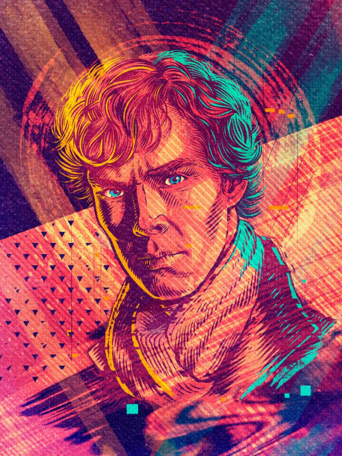 Benedict Cumberbatch Portrait as Sherlock Holmes