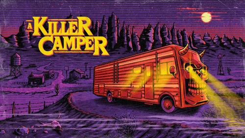 Graphic design of a killer camper