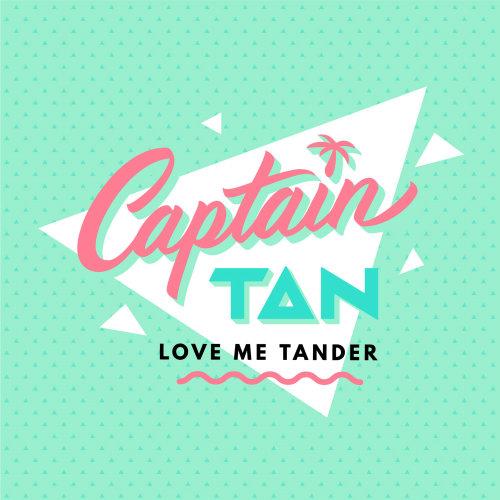 Captain tan love me tander lettering art