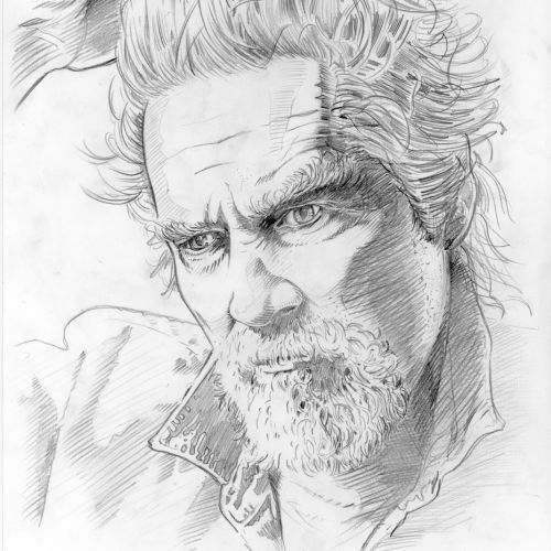 Jeff Bridges sketch portrait by BoomArtwork
