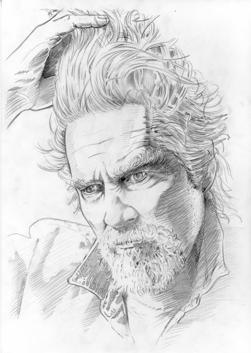 Jeff Bridges sketch portrait by BoomArtwork