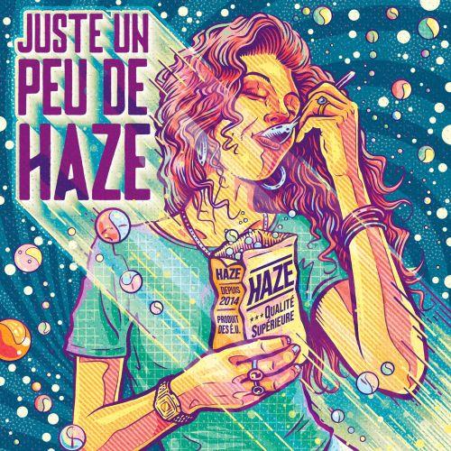 Advertising Girl eating Haze