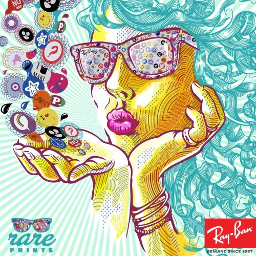 Illustration work for Ray Ban's Rare Prints campaign