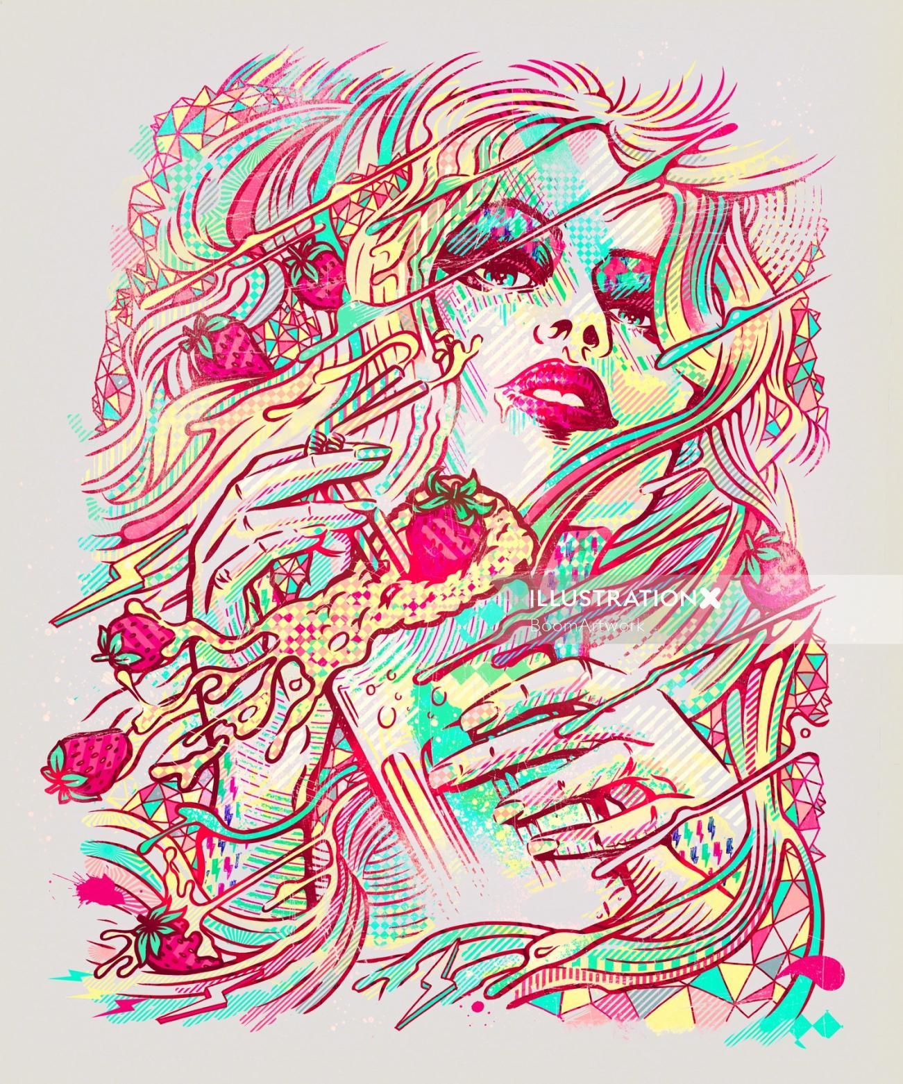 Woman contemporary illustration