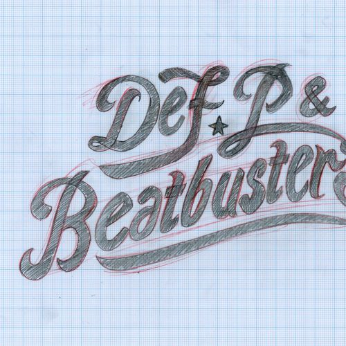 Hand lettering of beat busters