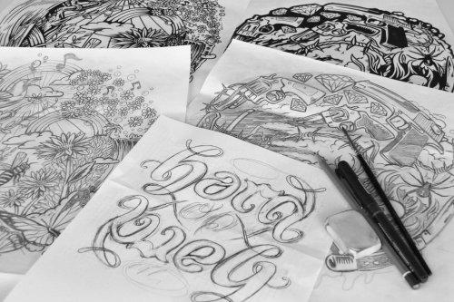 Live hand lettering illustration by BoomArtwork
