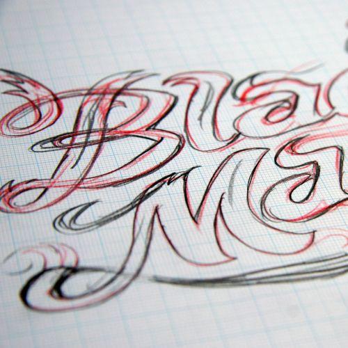 Black magio lettering illustration