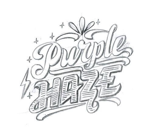 Pencil drawing of purple haze