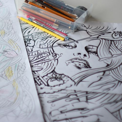Live drawing illustration by BoomArtwork