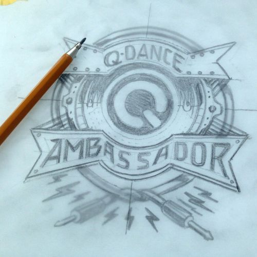 Q-Dance Ambassador logo design