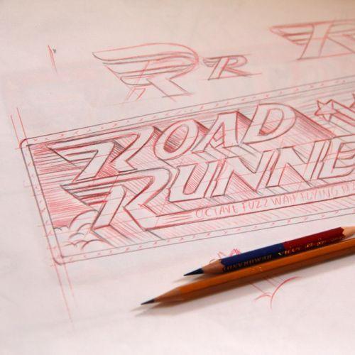 Lettering art of road runner