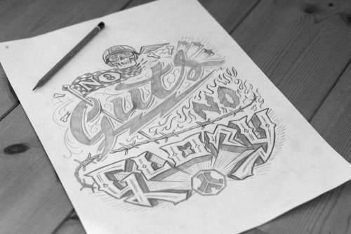 Hand lettering art of no guts no glory