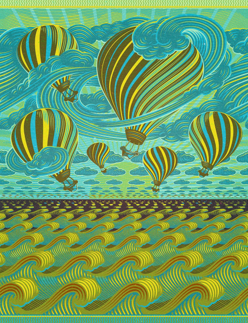 Fabric design for Vlisco's Fantasia collection