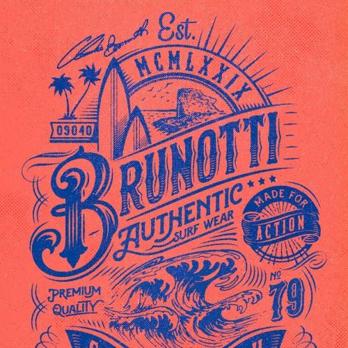 Brunotti authentic poster design