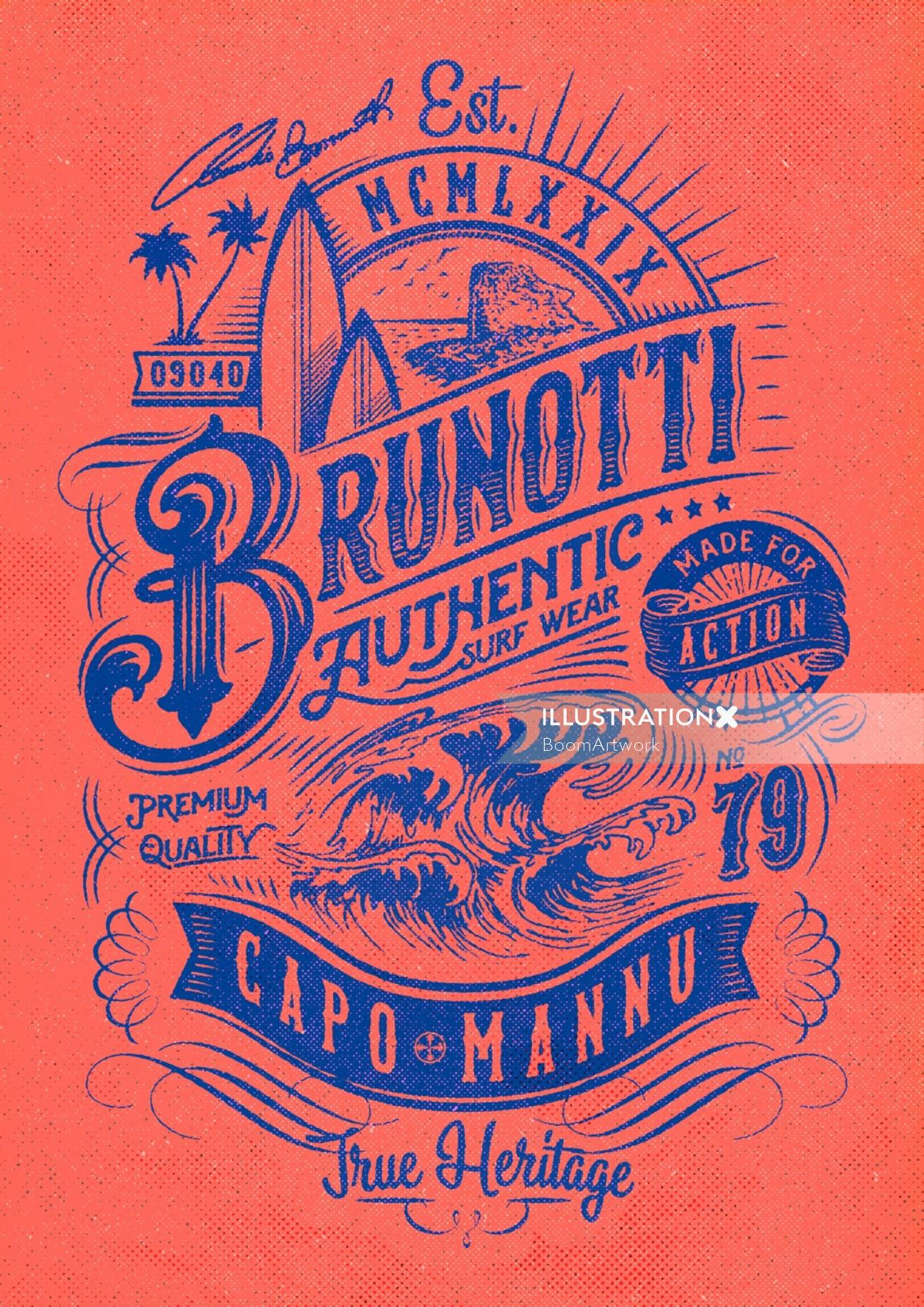 Brunotti authentic poster design