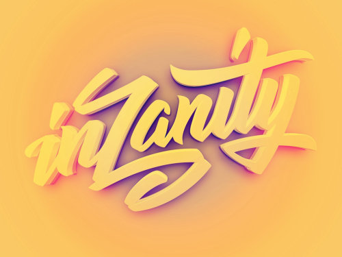 3d lettering illustration by BoomArtwork