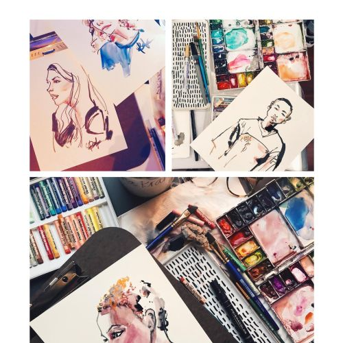 Briana Kranz Live Event Drawing Moda Illustrator from United States