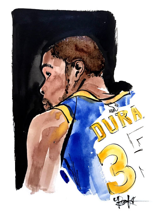 Kevin Durant Watercolor Art
