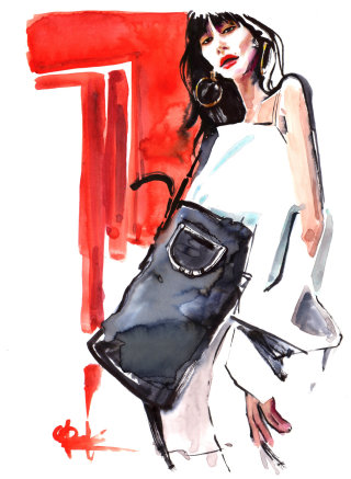 Fashion Illustration of Natalie Lim Suarez