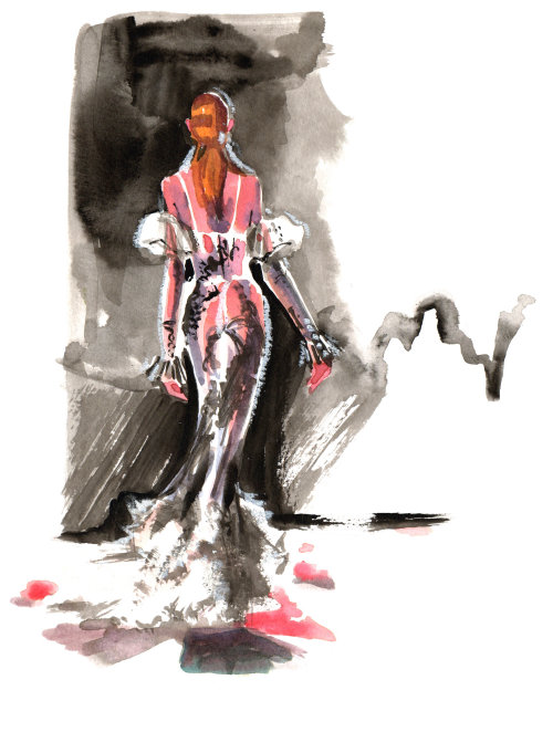 Runway fashion illustration