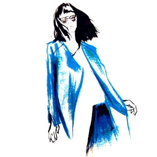 Fashion Lady Illustration By Briana Kranz