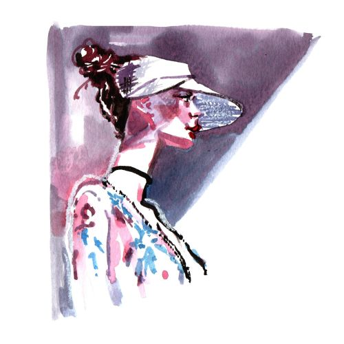 woman watercolour painting