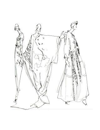Line artwork for fashion wear design