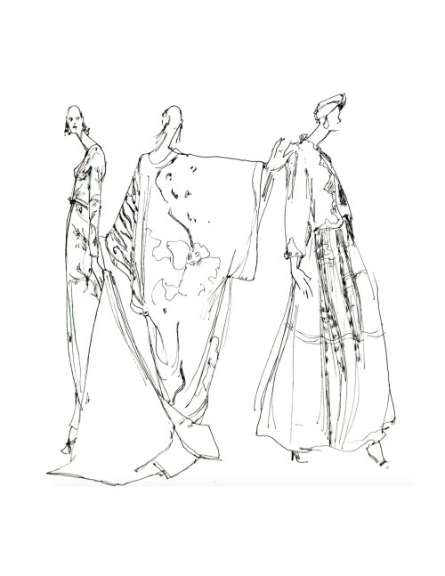 Line artwork for fashion wear design