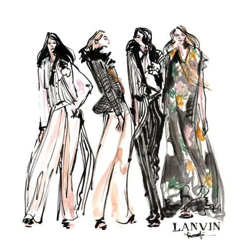 Women Fashion Illustration For Lanvin