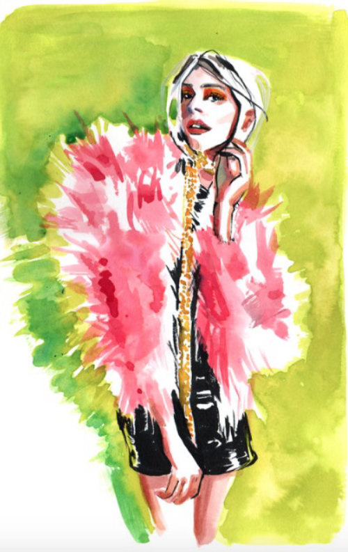 Fashion Sketch For Sienna Miller