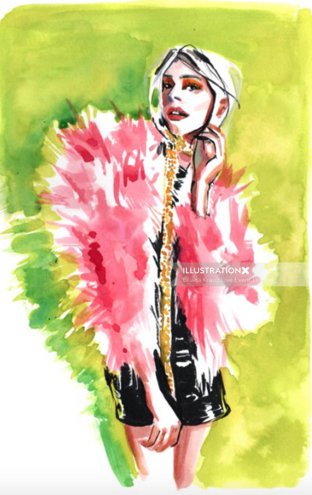 Fashion Sketch For Sienna Miller
