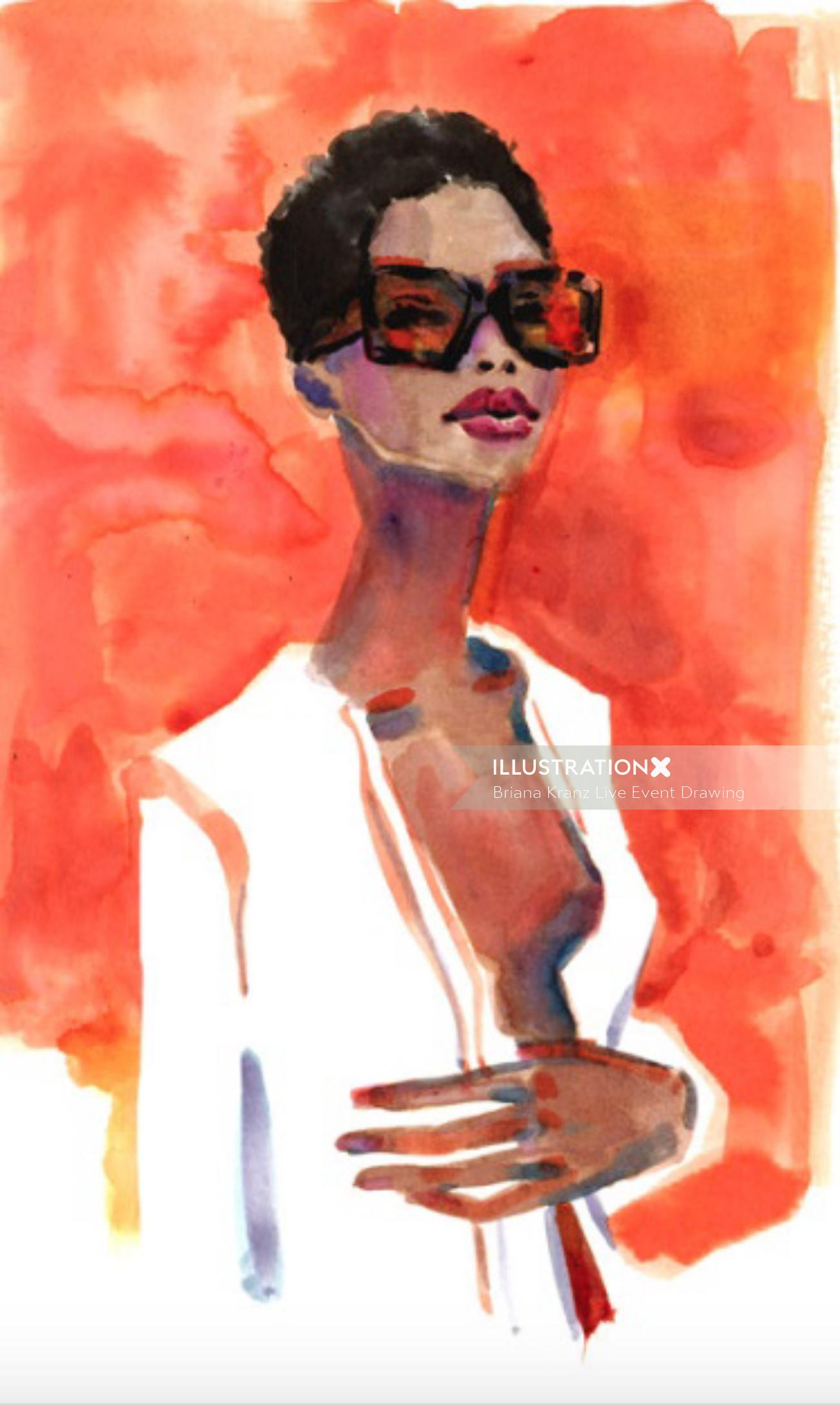 Fashion Drawing Of Maria Borges