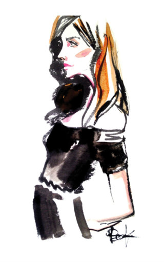Fashion lady portrait painting