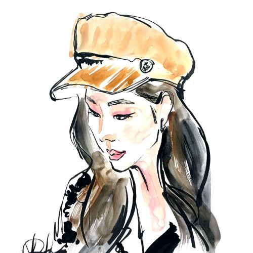 Watercolour Portrait Painting By Briana Kranz