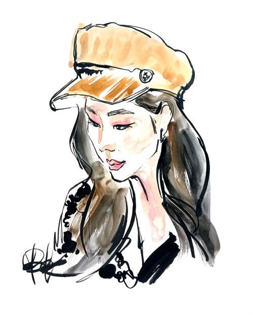Pintura do retrato da aguarela por Briana Kranz