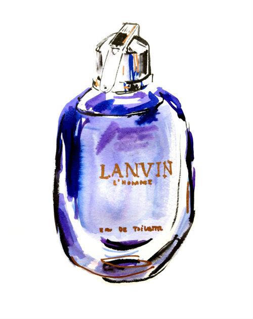 Uma ilustração para o perfume Lanvin L'homme