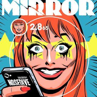 Black Mirror episode Nosedive as a vintage comic book cover