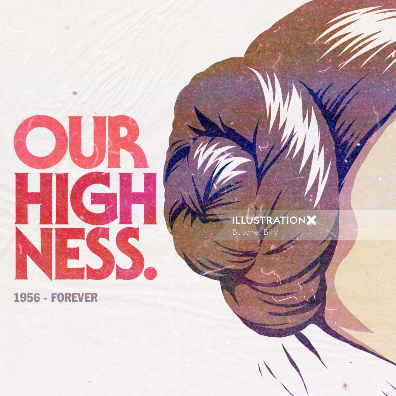 Lettering art of our highness