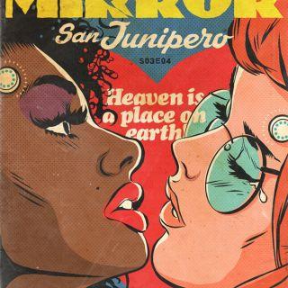 Black Mirror comic book cover illustration