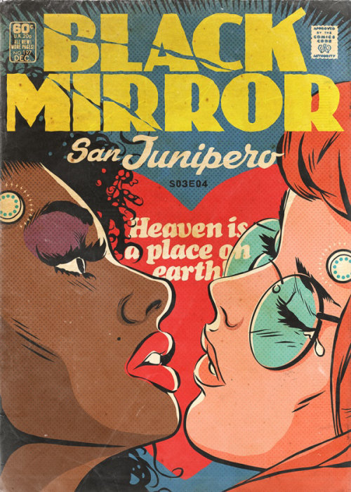 Black Mirror comic book cover illustration