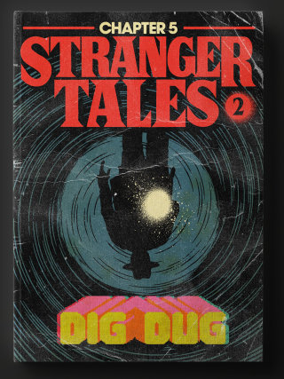Stranger tales 2 dig dug series cover poster