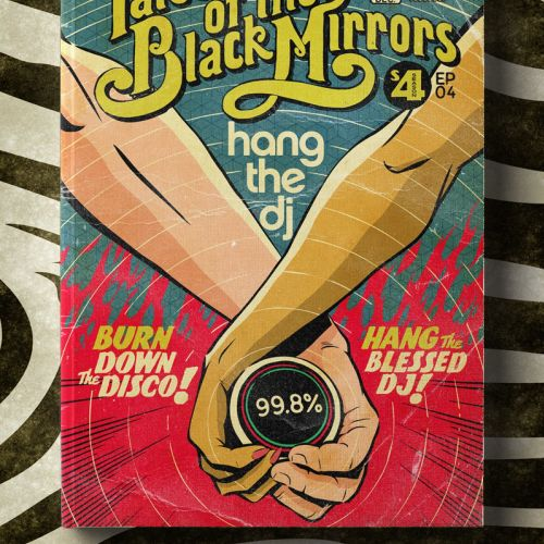 Tales of the black mirror lettering illustration