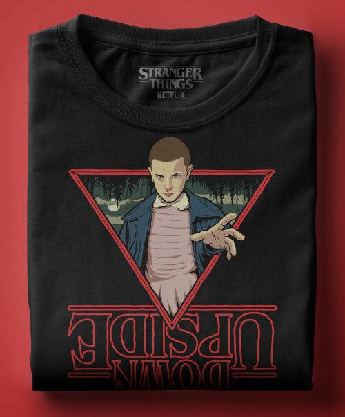 Digital illustration upside on Tshirt