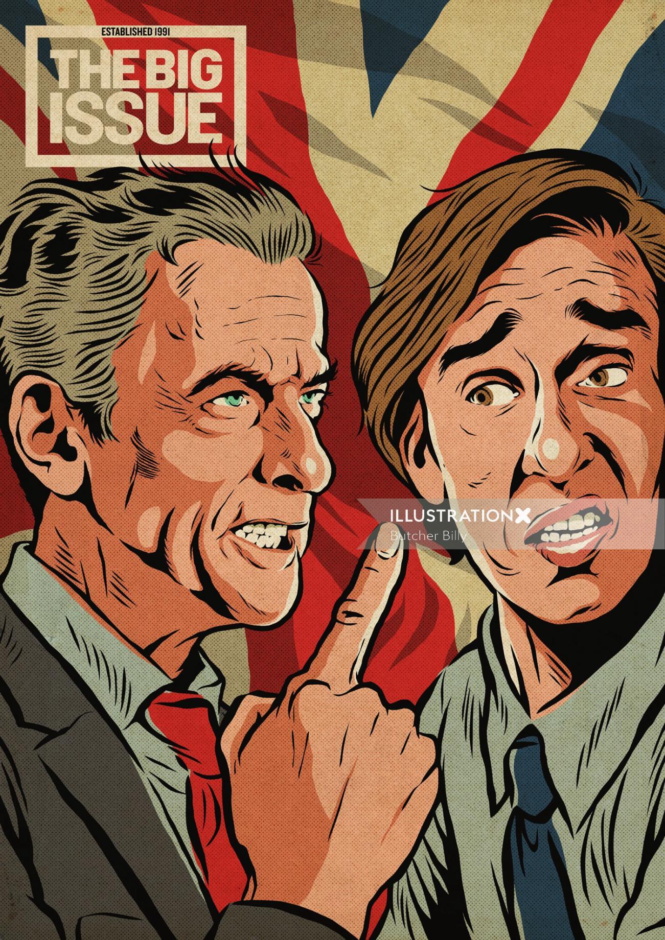 Cover illustration of peter capaldi & steve coogan