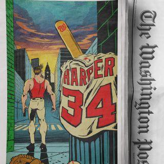 Baseball player illustration for washington post
