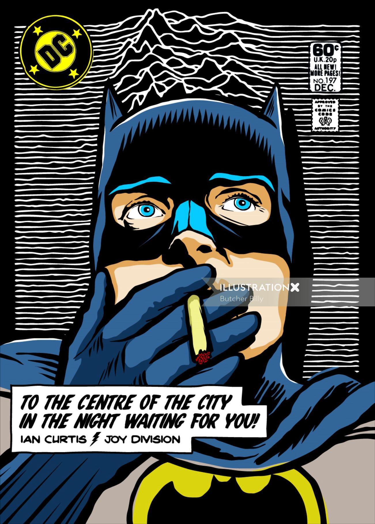 Pop culture illustration of Batman