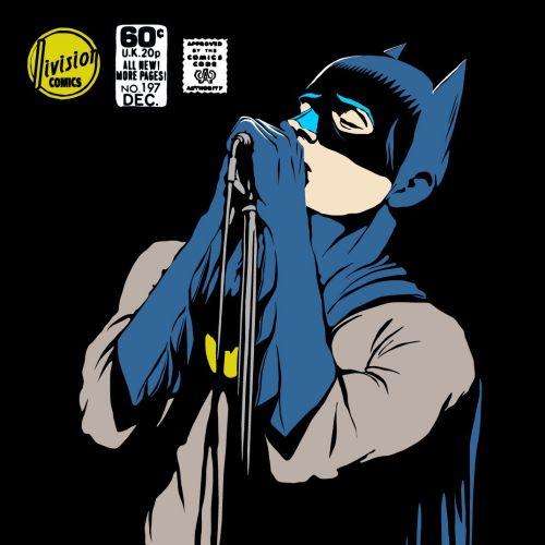 retro art of Post-Punk Dark Knight